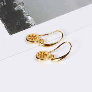 Tory Burch Round Cutout Earrings
